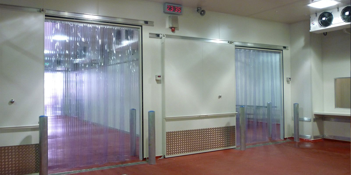 why install pvc strip curtains in cold